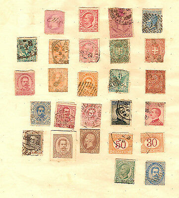 #t29.  Page Of Old Italian Stamps - Italy