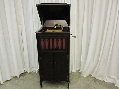 Antique 1919 Mahogany Pathe Phonograph XII Universal Tone Arm Saphire Ball NICE