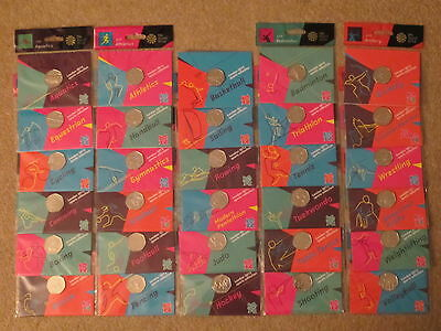 OLYMPIC LONDON 2012 50p SPORTS COMPLETE COLLECTION + 29 COINS, FOLDER, COMPLETER