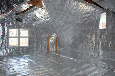 500 sqft of Low-E Reflective Foam Core 1/4 inch thick Insulation Barrier 4x125