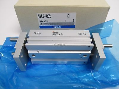New SMC MHL2-10D2 Pneumatic Parallel Gripper, 10mm Bore, 60mm Stroke, M5 Ports