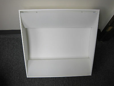 2 x 2 RECESSED INDIRECT SIDE BASKET FIXTURE IN WHITE- FOCAL LIGHTING