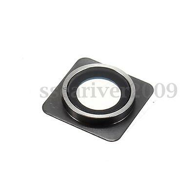 Back Rear Camera Lens Cover Frame Glass Ring Replacement For Apple iPhone 4 4S