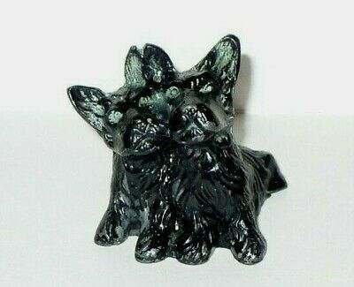 Antique Vintage Cast Iron Scottish Terrier Dogs Pair Black