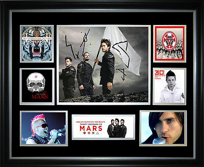 Thirty Seconds To Mars Signed Framed Memorabilia