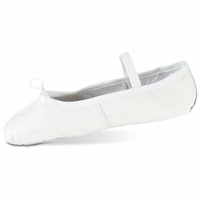 white leather Starlite and Katz full sole ballet shoes - all sizes