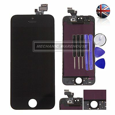 For iPhone 5 LCD Touch Screen Digitiser Display Lens Assembly Replacement Black