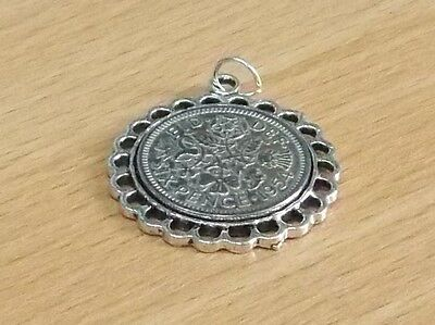 1933 84th Birthday / Anniversary sixpence coin Fine pendant ready to hang