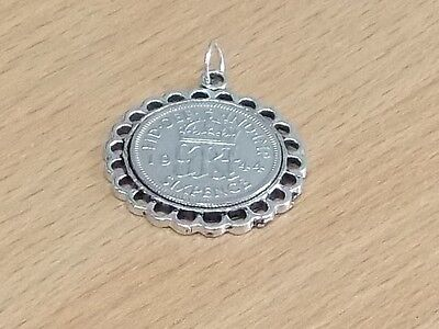 1938 79th Birthday / Anniversary sixpence coin Fine pendant ready to hang