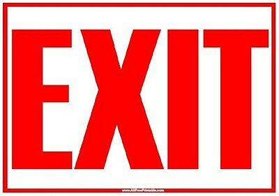 """5 pack  Plastic Flexible Exit Signs 8"""" x 12"""" New"""
