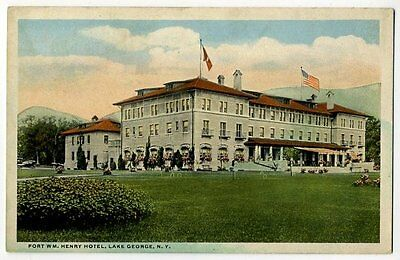 Postcard Fort William Henry Hotel in Lake George, NY