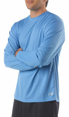 A4 Men's Moisture Wicking Textured Tech Long Sleeve Resistant T-Shirt. N3253