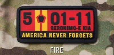 5-01-11 America Never Forgets Pvc Isaf Us Tactical Usa Morale Fire Hook Patch
