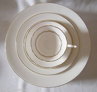 COALPORT CORONET 3 PC Place Setting DINNER SALAD TEA PLATE