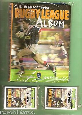 2002 Newspaper  Rugby League Card Unopened Packs & Unused Folder