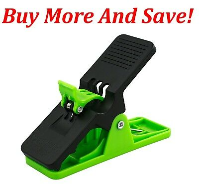OVER 400 SOLD! HI-VIZ GREEN Cigar Minder Clip Holder Saver Klip Golf Auto new