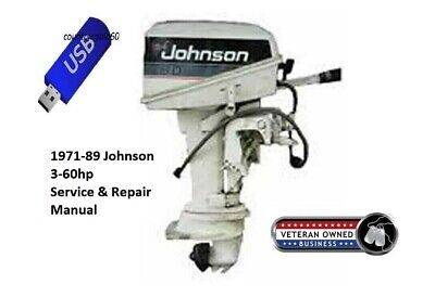 Johnson 3-60HP Outboard Service & Repair Manual On CD