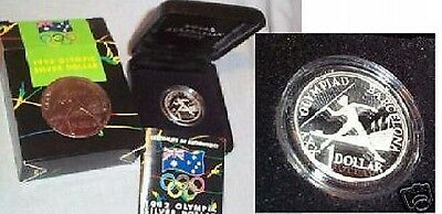 #C15.  AUSTRALIAN 1992 SILVER PROOF BARCELONA OLYMPIC DOLLAR $1 COIN