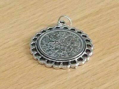 1957 60th Birthday / Anniversary sixpence coin Fine pendant ready to hang