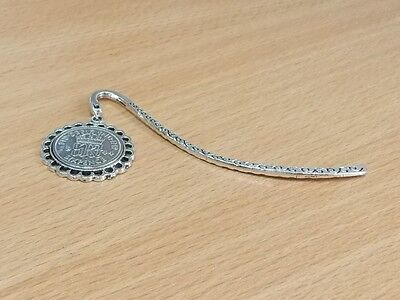 1947 70th Birthday Anniversary Sixpence Coin Bookmark with Shiny Sixpence Fine
