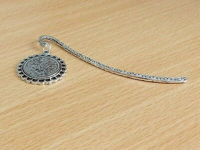 1936 80th Birthday Anniversary Sixpence Coin Bookmark with Shiny Sixpence Fine