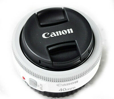 Canon EF 40mm f/2.8 STM Pancake Lens White - Warranty - Bulk Package