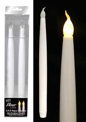 "11"" Led Flameless Flickering Wedding Candelabra Party Table Taper Candles 2 Pack"