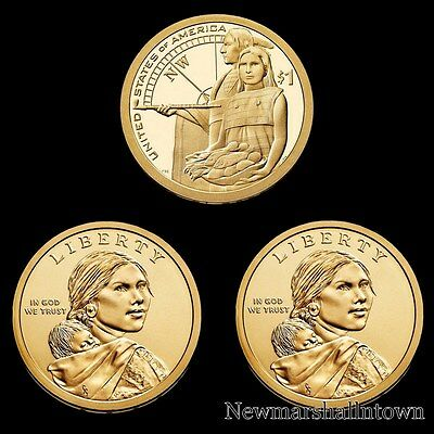 2014 P+D+S Native American Sacagawea Proof & PD from Original U.S. Mint Rolls