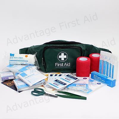 2 x Horse - Equine and Rider Comprehensive First Aid Kits in Sturdy Bum Bag-