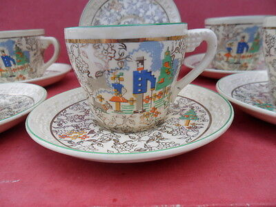Beswick, Floral Chintz design, 6 x Coffee Cups & Saucers