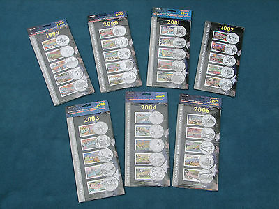 50 State Quarters Greetings from America Portfolio Sets Stamps 1999-2005 Sealed