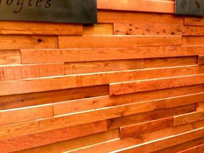 Reclaimed Antique Oak Multi Dimensional Wall Covering Paneling Wainscoting Wood