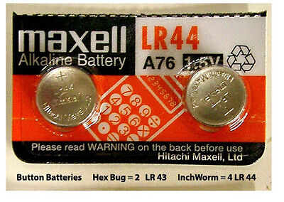 2x  LR44 A76 L1154 AG13 357 303 BATTERY MAXELL Expire Dec 2016 Fast shipping