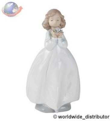 SALE Nao By Lladro Porcelain  THE FLOWER GIRL 020.01444 Worldwide Ship
