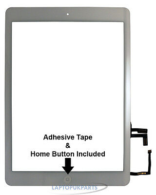 New Replacement Touch Screen Digitizer White For Apple iPad Air (Wi-Fi/Cellular)