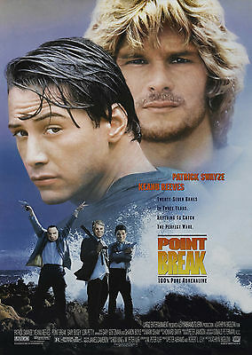 Point Break (1991) - A1/A2 Poster **BUY ANY 2 AND GET 1 FREE OFFER**