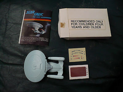 Rare Star Trek Cheerios The Next Generation Enterprise-D Toy 1987