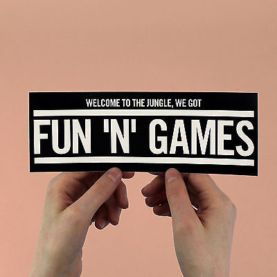 """Guns N' Roses """"Welcome to the jungle"""" sticker! Axl Rose, Appetite for Destructio"""