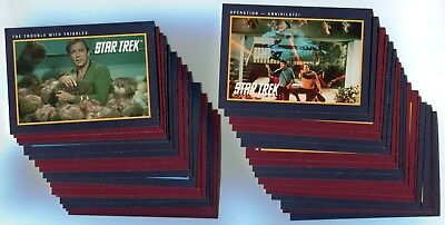 STAR TREK 25th Anniversary 1991 Base Card LOT!!! NM/M 135 Cards IMPEL