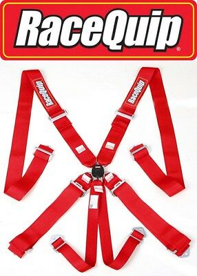 Red Cam Lock 6 Point Safety Harness Set Racing Belts Mud Bog Truck Pull Off Road