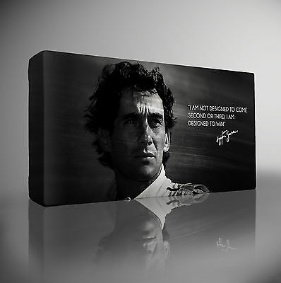 AYRTON SENNA F1 Quote - PREMIUM Giclee CANVAS Art Picture Print Choose your size