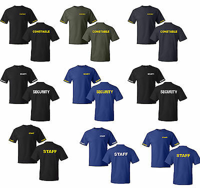 Constable-Security-Staff Event Bouncer T- Shirts S-5XL Gildan 100% cotton