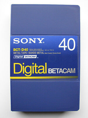 SONY BCT-D40 (small) DIGITAL BETACAM Profi Video Kassette NEU (worldwide)000-334