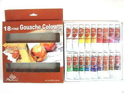 Set 18 Colori Tubetti Tempera 12 Ml