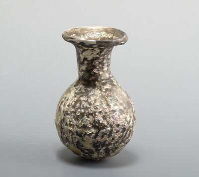 Ancient Roman glass flask