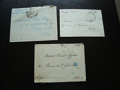 FRANCE - 3 enveloppes franchise  (cy26) french