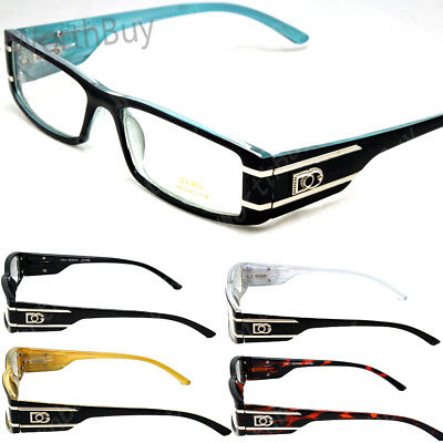 New DG Eyewear Clear Lens Frame Glasses Rectangular Fashion Designer Mens Womens