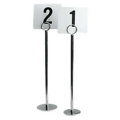 12 x Table Number Stand, Ring Clip, 40mm Base 300mm Menu / Card Holder