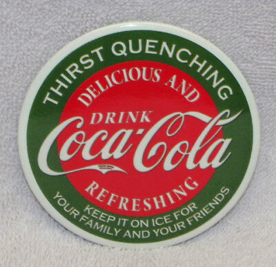 Coca-Cola Thirst Quenching Metal Magnet, New!
