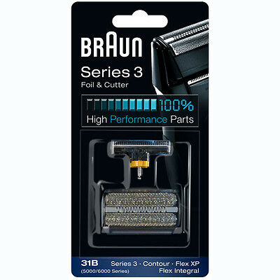 31B BRAUN SHAVER 5000/6000 Series Contour Flex XP Integral Foil & Cutter Pack